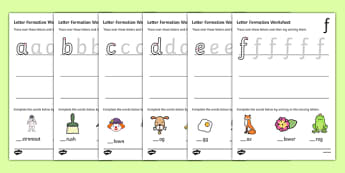 Letter Formation Worksheets (a-z) - Handwriting, letter formation, writing practice, foundation, letters, writing, learning to write, DFES letters and sounds
