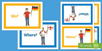 Question Words Display Posters - German - German, Question Words, Fragewörter, MFL, Languages, Display Posters, Poster