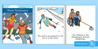Winter Paralympic Emergent Reader eBook - Medals, Paralympic Athletes, PyeongChang