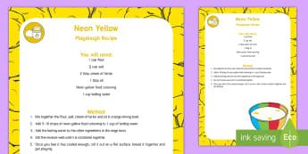 Neon Yellow Playdough Recipe