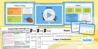 Computing: Programming Turtle Logo: Setpos Year 4 Lesson Pack 2