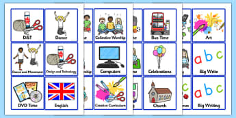 KS1 Daily Routine Cards - Visual Timetable, SEN, Daily Timetable, School Day, Daily Activities, Daily Routine KS1, Foundation Stage