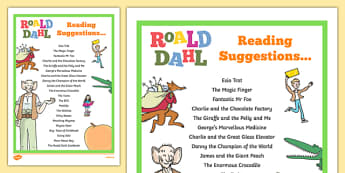 Roald Dahl Reading Suggestions - welsh, Roald Dahl, Reading suggestions, reading for pleasure