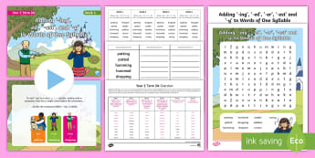 Year 2 Term 2A Week 4 Spelling Pack - Spelling Lists, Word Lists, Spring Term, List Pack, SPaG