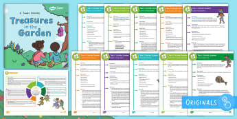 KS1 Take It Outside: Summer Activity Pack to Support Teaching on 'Treasures in the Garden' - outdoor learning, treasures in the garden, lesson ideas, maths outdoors, literacy outdoors, creative, outdoor, woodland learning, twinkl outdoor and woodland
