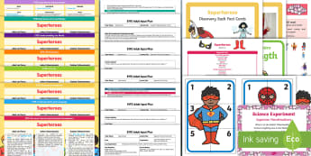 EYFS Superheroes Bumper Planning Pack - Superheroes, superhero, early years planning, adult led, continuous provision, enhancements