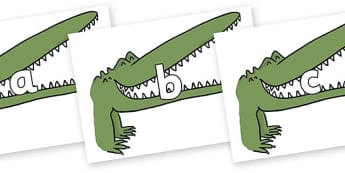 Phase 2 Phonemes on Enormous Crocodile to Support Teaching on The Enormous Crocodile - Phonemes, phoneme, Phase 2, Phase two, Foundation, Literacy, Letters and Sounds, DfES, display