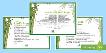 Lord's Prayer in Tongan Display Posters - Tonga, Tongan Language Week, Lord's Prayer, Lord, RE