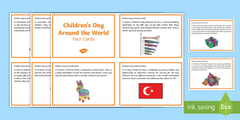 Children's Day Around the World Fact Cards - CfE, calendar events, Children's Day, traditions, history, celebrations, world festivals, world eve