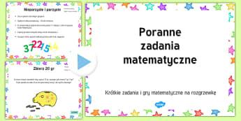 Poranne zadania matematyczne prezentacja