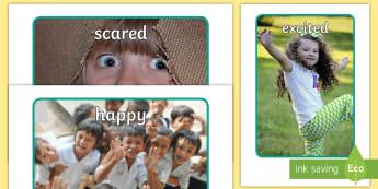 Our Emotions Display Photos - emotions, display, photos, vocabulary