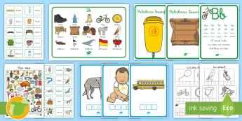 Pack de recursos: La letra B - lecto, leer, lectura, sonidos, letra , lecto-escritura, fonemas, sonidos, consonantes, letra , fonem