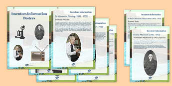 Scottish Inventors Information Display Cards - scottish, inventors, information, display, posters