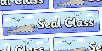 Seal Themed Classroom Display Banner - Themed banner, banner, display banner, Classroom labels, Area labels, Poster, Display, Areas
