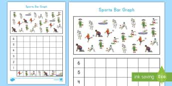Sports Bar Graph Worksheet / Activity Sheet - Common Core Math, sports, bar graph, data, measurement and data, worksheet
