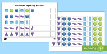 3D Shape Patterns - - 3D shape pattens, 3d shapes, patterns, repeating patterns,