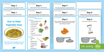 Vegetable Soup Recipes - recipe, cards, vegetable soup