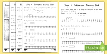 Subtraction Stage 4 Differentiated Activity Sheets