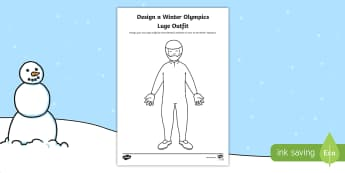 KS1 Design a Winter Olympics Luge Outfit Activity Sheet - Olympic Games, Sportswear, Winter sports, Sport, Suit, Athlete, Worksheet, uniform, kit, costume