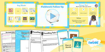 Geography: Our Local Area: Fieldwork Follow Up Year 1 Lesson Pack 3
