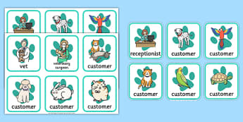 Veterinary Surgery Role Play Badges - veterinary surgery, vets, vet role play, role play, badges, role play badges, badges for role play, name badges
