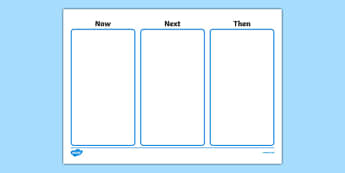 Now Next Then Task Board - now next and then visual timetable, three step visual timetable, visual timetable poster, now next then poster, planning, sen