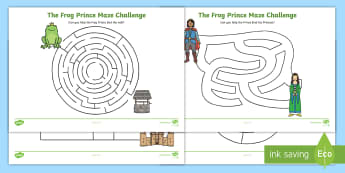 The Frog Prince Differentiated Maze Activity Sheet Pack - mazes, game, worksheet
