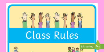 Class Rules Display Poster - display, poster, behavior, rules, class, charter, bulletin board, start of the year, august, new cla