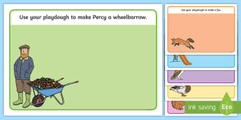 Playdough Mats to Support Teaching on Percy The Park Keeper - percy the park keeper, mat
