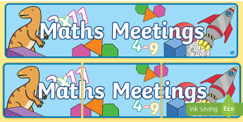 Maths Meetings Display Banner - display, banner, display banner, maths, meetings, maths meetings, maths display banner, meetings display banner, our maths meetings, maths meetings banner, poster, sign, classroom display, themed banner