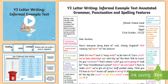 Y3 Letter Writing: Informal Model/Example Text - WAGOLL, non-fiction, features, analysis, language, Howard Carter, Ancient Egyptians