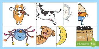 Nursery Rhymes Lacing Cards - Shoe Laces, Individual Center Activity, Morning Work