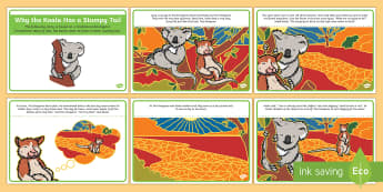 Why The Koala Has A Stumpy Tail Story Cards