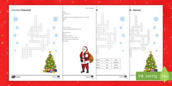 KS3 Science Christmas Resources Crossword
