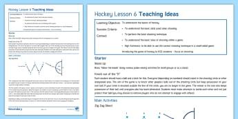 Hockey Lesson 6: Shooting - Hockey, Lesson Plan, winter sport, Invasion Game