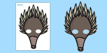 Echidna Role Play Masks
