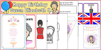 The Queen's Birthday Childminder Resource Pack - the queens birthday, 90th birthday, birthday, party, queen, resource pack, childminder