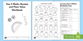 Year 5 Maths Number and Place Value Workbook - maths, workbook