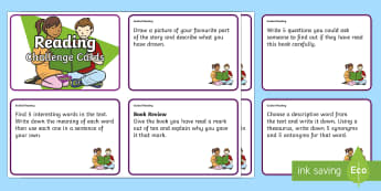 Guided Reading Challenge Cards - Literacy, Reading, New Zealand, NZ, Guided Reading, Challenge Cards, Colour Wheel
