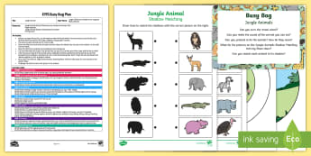 EYFS Jungle Animals Busy Bag Plan and Resource Pack - Rumble in the Jungle, Giles Andreae, Rainforest, jungle, forest, crocodile, chimpanzee, elephant, sn