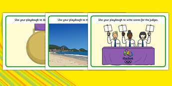 Rio Olympics 2016 Playdough Mats - rio olympics, 2016 olympics, rio 2016, playdough mats, playdough, mat