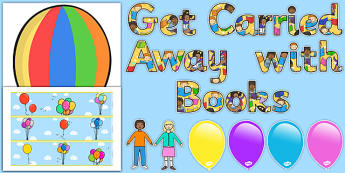 Ready Made Get Carried Away With Books Display Pack - display