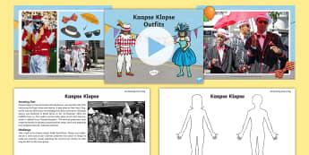 Kaapse Klopse Activity Pack - kaapse klopse, heritage day, cape Mistrials, design, art,creative arts, music, new year, cape town