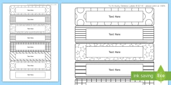 Black and White Editable Gratnells Tray Labels  - Black and White Editable Gratnells Tray Labels - tray labels, try label, gartnell, gratnell, editble