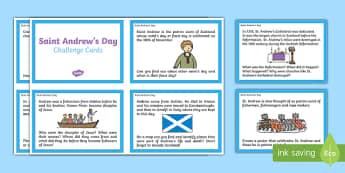 Saint Andrew's Day Challenge Cards-Scottish