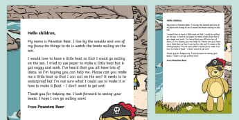 Editable Boat Building Letter - EYFS, Early Years, Early Years planning, Key Stage 1, KS1, topic starter, topic introduction, Wow ac