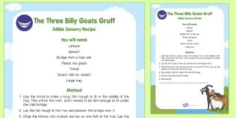 The Three Billy Goats Gruff Edible Sensory Recipe