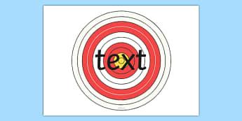 Editable Bullseye Target - editable, bullseye, target, targets, edit