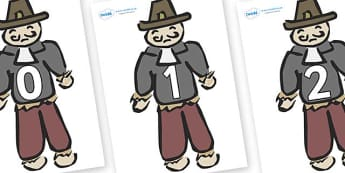 Numbers 0-31 on Guy Fawkes - 0-31, foundation stage numeracy, Number recognition, Number flashcards, counting, number frieze, Display numbers, number posters