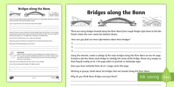 Bridges along the Bann Map
